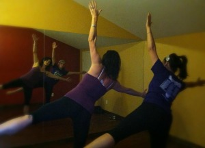 Finding the time for yoga with my sister, Tracye Ward and daughter, Katrina Navarro.
