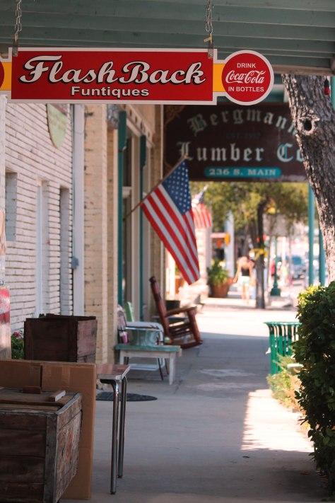 Main Street Boerne Texas, Bergmann Lumber. Family owned for three generations.  Taken by Jolene Navarro