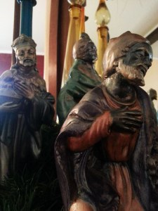 Ceramic Wise-men glazed by Cindy Guinther in 1975