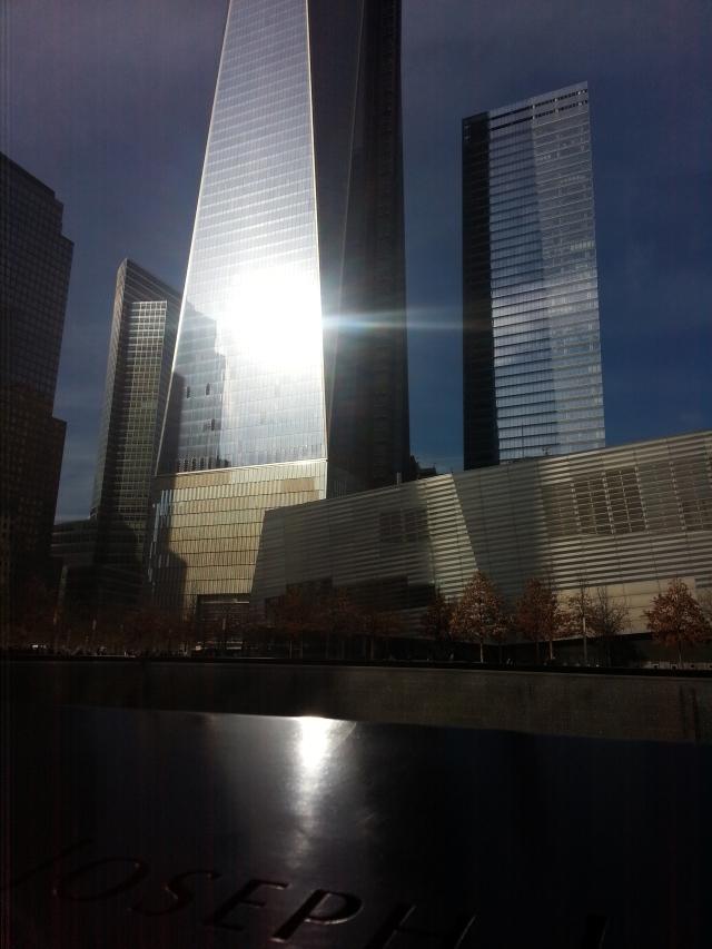 911 Memorial as the set sets. Photo by Jolene Navarro