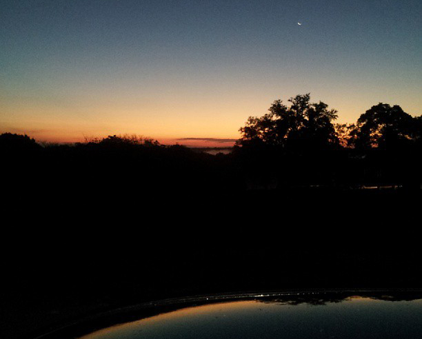 Te sun rising as I leave for work - leaving the Texas Hill Country and heading to San Antonio