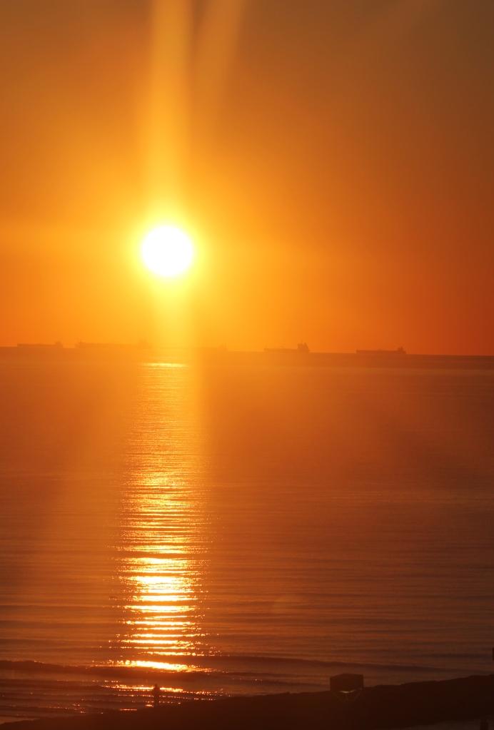 Sun rise, from my balcony in Galveston Texas -