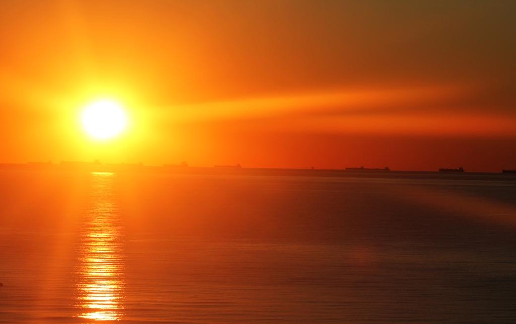 Sun rise in Galveston Texas.