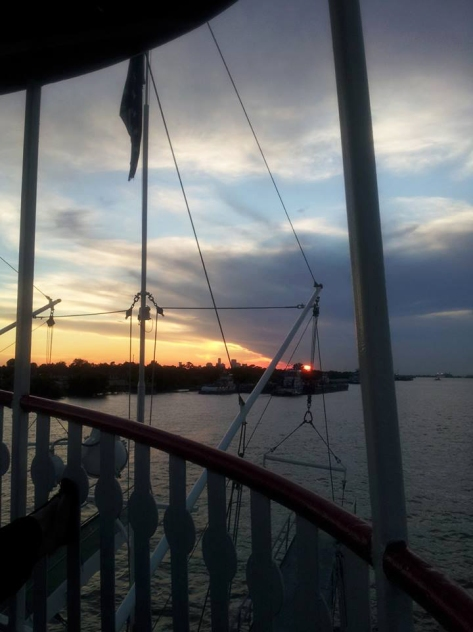 On the Mississippi heading into New Orleans