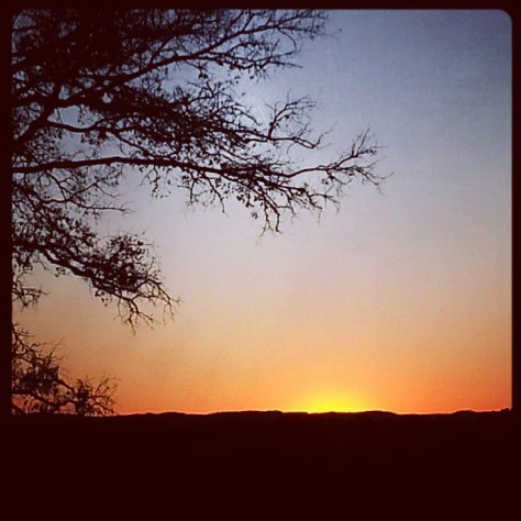 Sunset from my driveway in Texas Hill Country