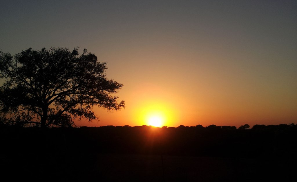 Texas Hill Country Sunset from my driveway