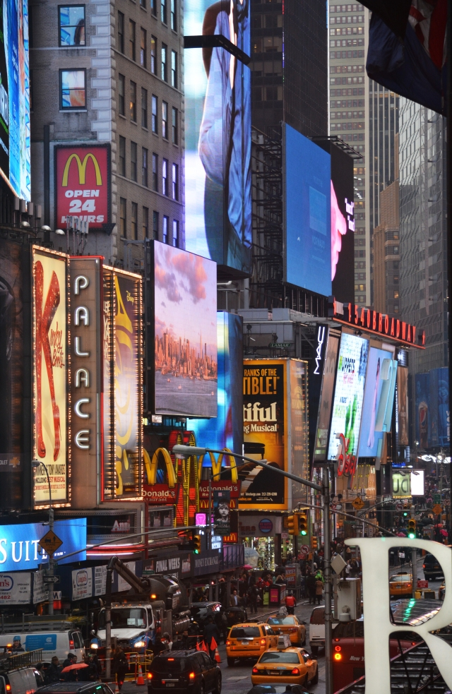 Time Square New York, - view from the M&M store