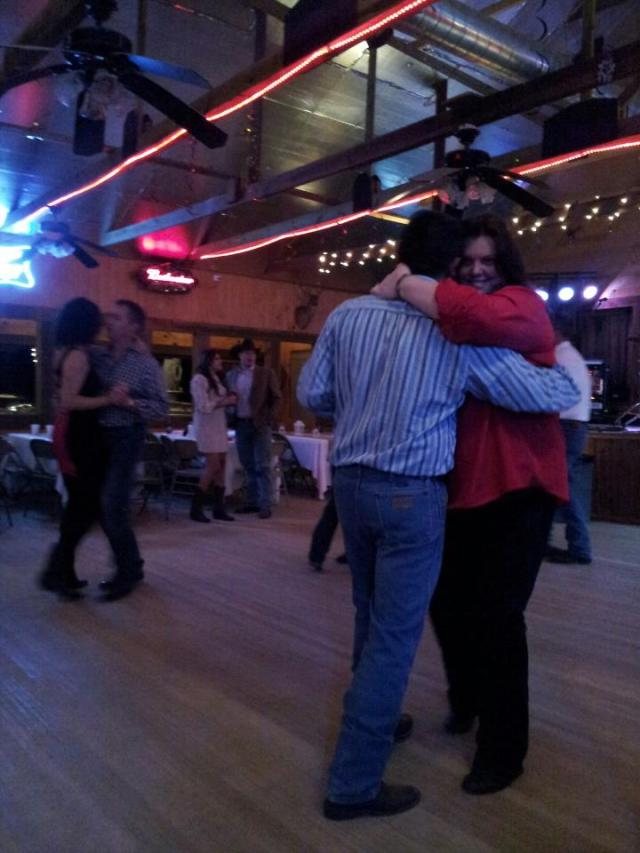 Here is the real Fred & Jolene dancing. I love dancing with Fred.
