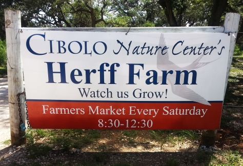 The entry gate to the Farmers Market at the Cibolo