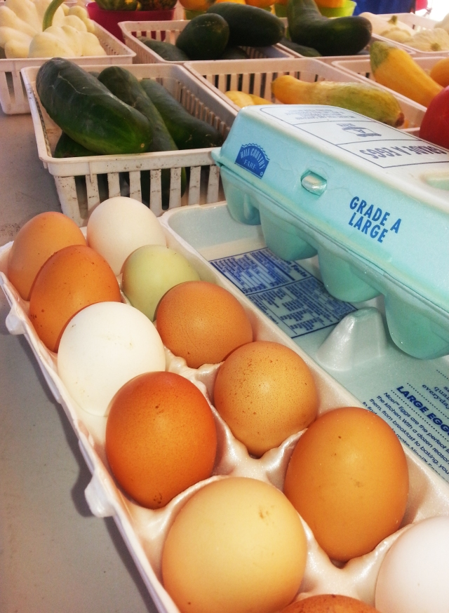 Farm fresh eggs from free range chickens