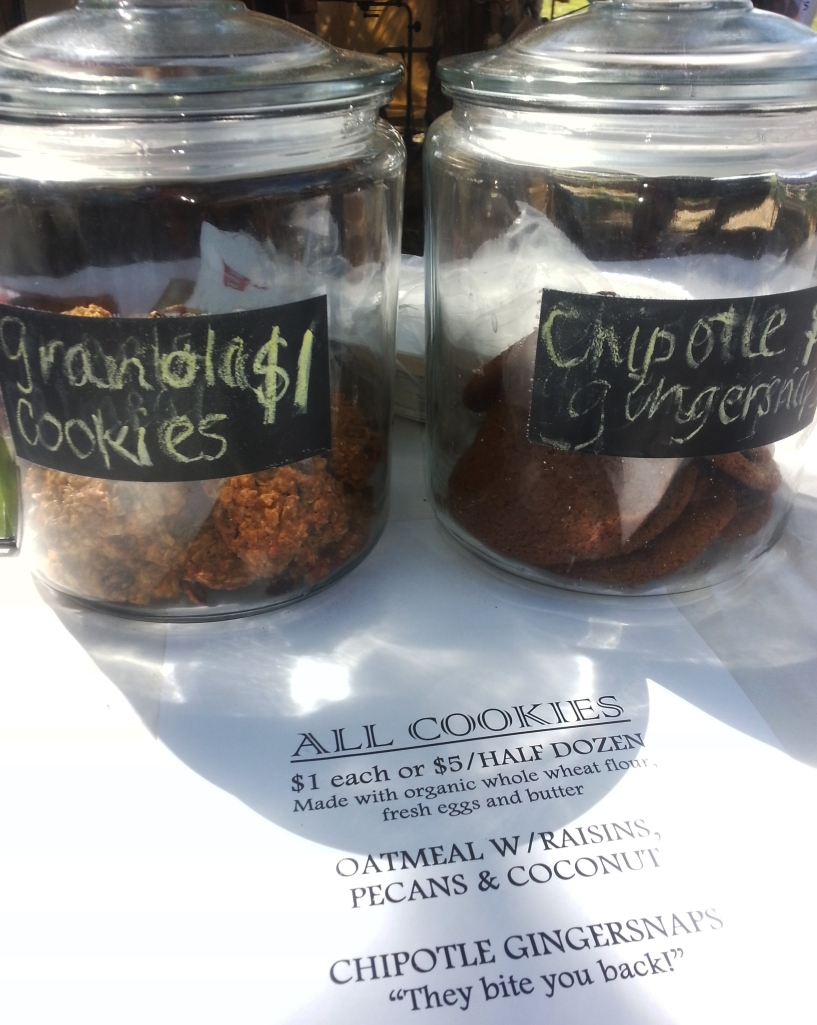 Organic cookies made with fresh ingredients.
