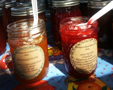 Fresh Homemade products at the Farmer's Market at the Cibolo Nature Park