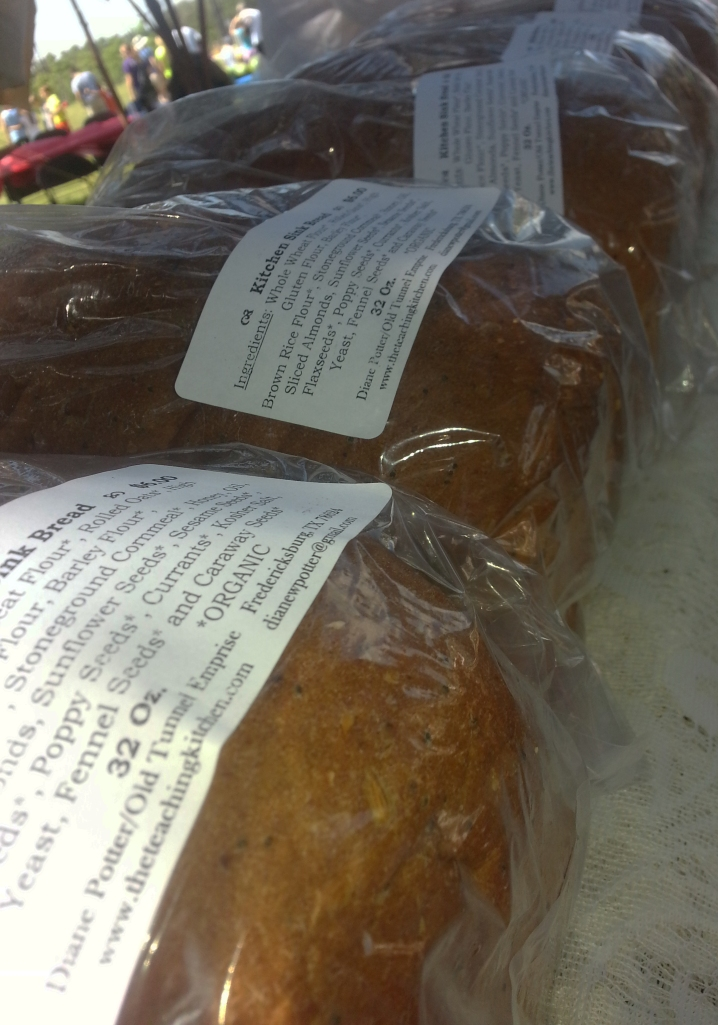 Organic fresh baked bread