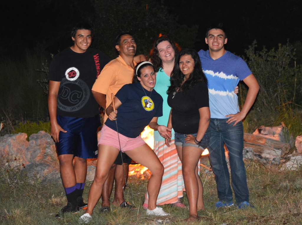 Bon fire and family