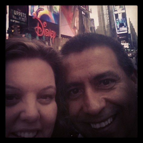 Times Square with Fred. A dream coming true.