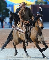 Hugh Jackmen on a horse