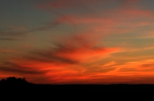 Sunrise on HWY 474 in Boerne
