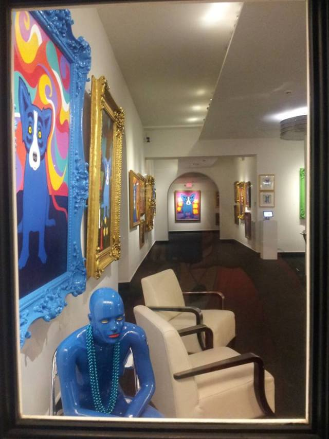 You can't be in New Orleans and not visit George Rodrigue's Blue Dog