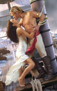The pirate is a lady in the 2008 Captive of my Desire by  Johanna Lindsay