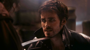 Colin O'Donoghue as Captain Hook.  Once Upon A Time