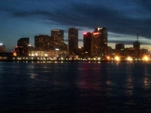 Downtown from the paddle boat