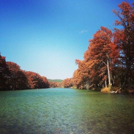 Fall foliage on the Frio River