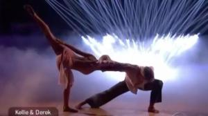 Kellie & Derek on Dancing with the Stars
