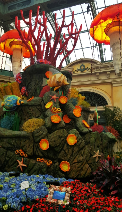 Bellagio in Vegas. Theme -Under the sea with Summer Gardens at the Conservatory &