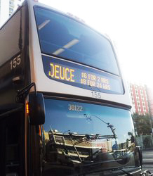 Deuce double decked bus in Vegas