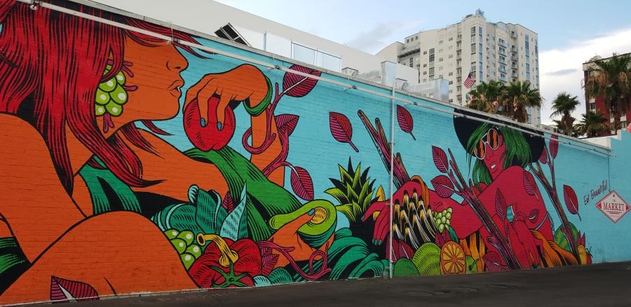Art on Fremont Another huge mural on Fremont Street in Las Vegas - photo Jolene Navarro