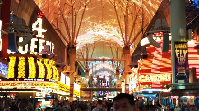 Fremont - in Vegas the largest digital screen in the world. photo Jolene Navarro