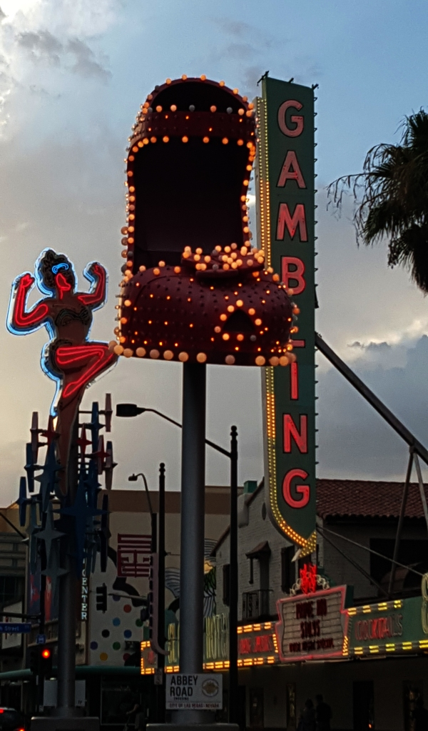 Fremont has become a living Museum to the history of Vegas -Historical Signs are on display -photo Jolene Navarro