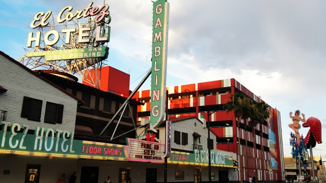 The Vegas of old on Fremont - photo by Jolene Navarro