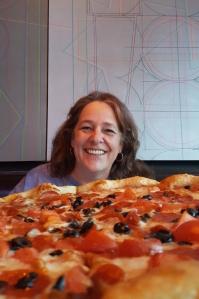 Radio City Pizzeria on Fremont East with my roommate- photo by Jolene Navarroo