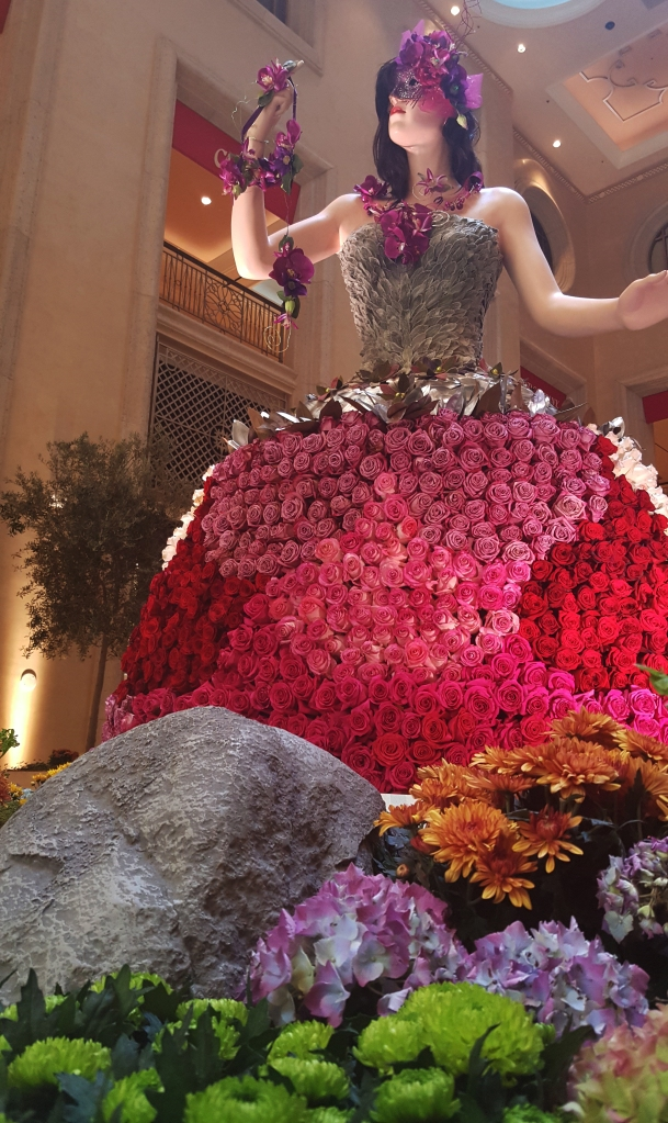 The Palazzo had several displays made up of flowers.