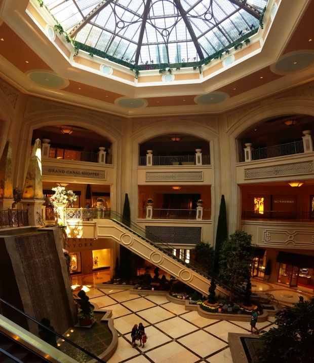 Palazzo in Las Vegas provides shopping and entertainment without leaving the hotel. Everything is Grand!