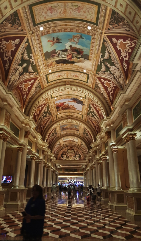 The lobby at the Venetian in Las Vegas is a grand example of classical art