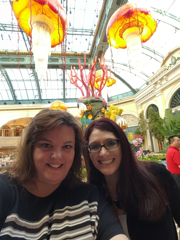 At the Bellagio in Las Vegas in the Conservatory & Botanical Gardens with Jenna Neal and Jolene Navarro