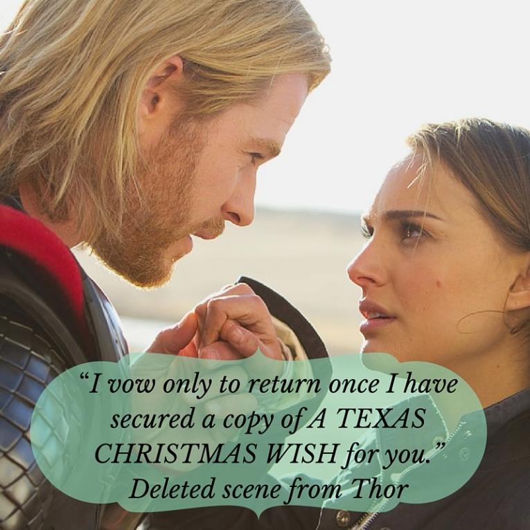 Thor Looking for Jolene Navarro's book. A Texas Christmas Wish