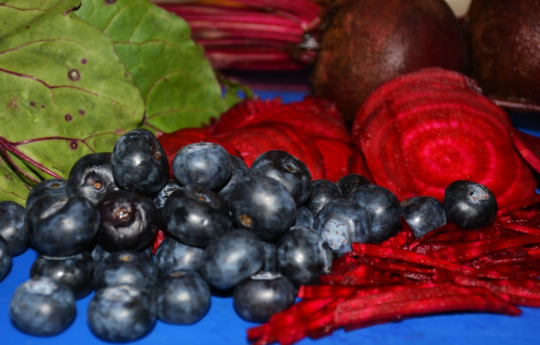 The thing that gives blueberries and beets their color is the thing that will help you be healthier.