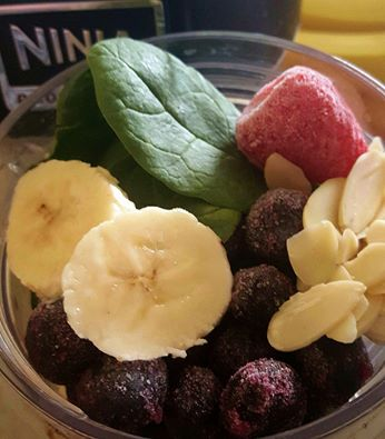 nuts berries and bananas