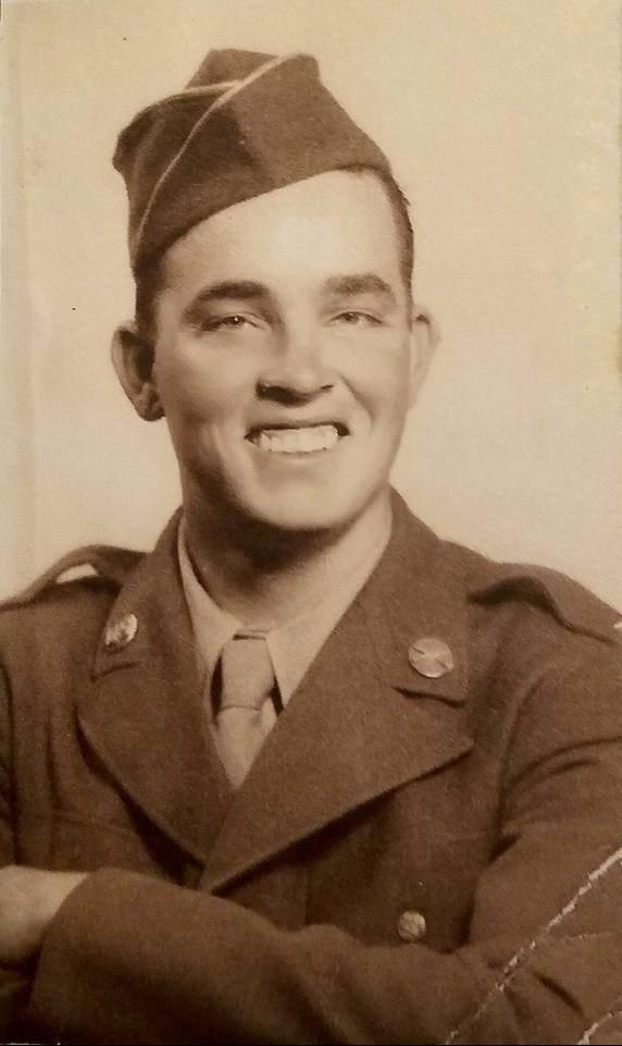 "Forrest Freeman French, WWII soldier 7th Div. Co. ""K"" 184th Infantry."